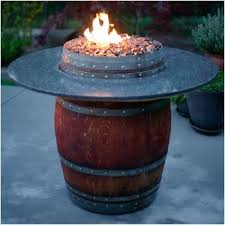 wine barrel fire table the reserve wine barrel fire pit table with barrel wood top 42