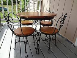 ice cream table and chairs vintage childs ice cream chair antique old stool parlor soda