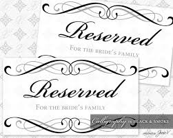 printable reserved table signs perfect reserved table sign template embellishment resume ideas
