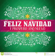 feliz navidad christmas card feliz navidad y prospero ano nuevo stock photo image 35625480
