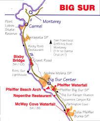 Big Sur Map Big Sur Dec 2011