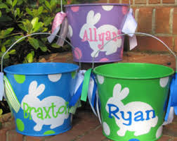 personalized buckets personalized 5 qt metal easter basket lots of designs
