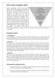 english worksheet how to write a newspaper article journalism