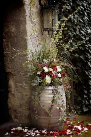 themed wedding decor wine barrel wedding decor