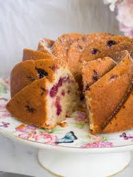 raspberry and vanilla bundt cake with rose syrup u2014 kulinary