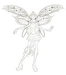 winx club flora harmonix coloring pages roxy printable kids fun