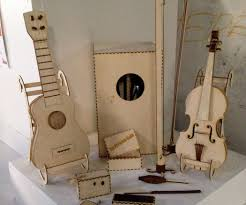 lasercut plywood violin 6 steps with pictures