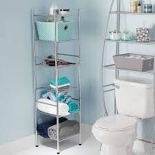 Bathroom Chrome Shelving by Amazon Com 6 Tier Tower Shelf In Chrome Finish U2013 56 U201d High U0026 Space