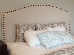 Upholstered Nailhead Headboard by Two It Yourself Diy Drop Cloth Headboard With Front Nail Head