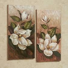 canvas wall art touch of class annalynn magnolia canvas wall art multi warm set of two