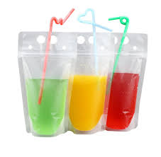 amazon com sakuyv stand up reclosable zipper clear drink pouches