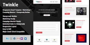 twinkle responsive email template campaign monitor mailchimp