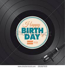 happy birthday card vinyl illustration background stock vector