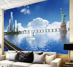 compare prices on beach wall mural online shopping buy low price city landscape sea beach blue sky cloud photo wallpaper for walls 3 d wall papers living
