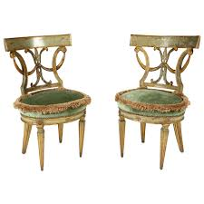 neoclassical style pair of 18th century italian neoclassical style paint decorated