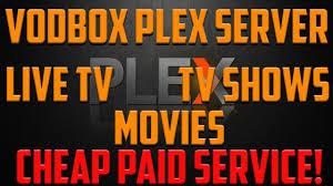 vodbox plex server review 2017 live tv sport movies tv shows