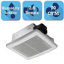 delta breez slim series 70 cfm ceiling bathroom exhaust fan with