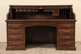 sold globe wernicke signed oak 1900 antique roll top desk