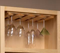kitchen cabinet with wine glass rack t molding to hung under shelf for stemware home stuff pinterest
