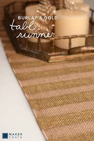 gold table runner and placemats burlap and gold table runner maker crate