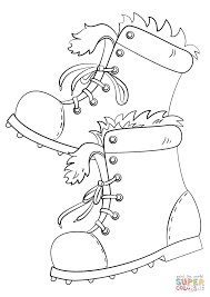 winter boots coloring page free printable coloring pages