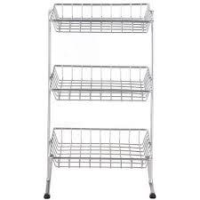 3 tier kitchen cabinet organizer mainstays 3 tier wire shelf walmart com