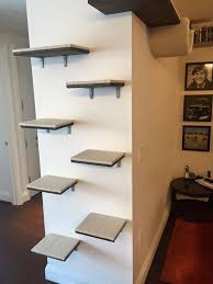 great photos of cat wall shelf system installation