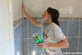Bathroom Tile Refinishing by How To Refinish Outdated Tile Yes I Painted My Shower