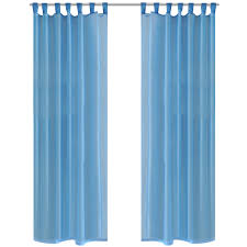 Turquoise Sheer Curtains Turquoise Sheer Curtain 140 X 175 Cm 2 Pcs Lovdock