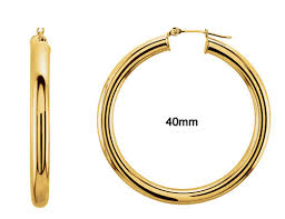gold hoops hoop earrings in 14k yellow gold 412935