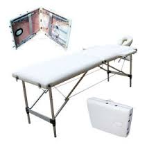 massage table carry bag aluminum 2 fold portable spa w beauty bed massage table