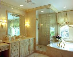Gold Faucet Bathroom by Shower Crown Molding Bathroom Traditional With Gold Faucet Shower