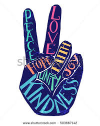 peace sign creative lettering stock vector 503667142