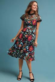 floral dresses anthropologie