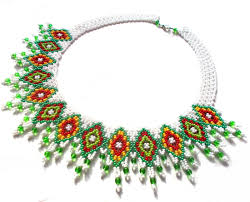 bead necklace patterns images Free pattern for necklace irma beads magic jpg