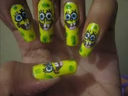my spongebob nail art youtube