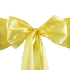 satin chair sash 6x106 yellow 5pcs efavormart
