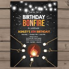 hashtag neon party birthday party invitation birthday best 25 bonfire birthday party ideas on bonfire