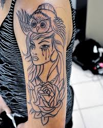 black outline sleeve tattoo for women creativefan
