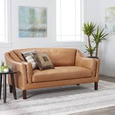 leather sofa free delivery gracewood hollow reginald charme russet leather sofa free shipping