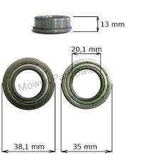 front wheel bearing fits castel garden mountfield honda stiga