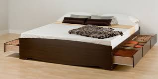 Build Your Own King Size Platform Bed With Drawers by King Platform Bed With Drawers Modern Effortless To Build King
