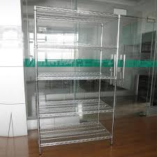 Commercial Wire Shelving by Wire Shelving Chrome Shelving Units Business Warehouse Ideal