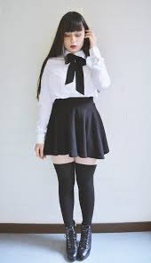 White Blouse With Black Bow Aura L Aliexpress Bow Blouse Bershka Skater Skirt Aliexpress