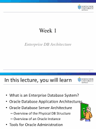 week1 introduction enterprise database systems oracle database