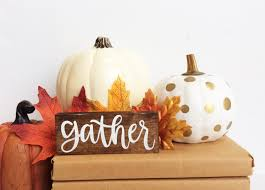 gather wood sign thanksgiving decor fall wood sign fall