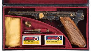 The Woodsman Company Engraved And Gold Inlaid Colt Woodsman Match Target Pistol Pistol