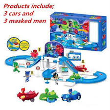pj masks party command center car parking car characters catboy