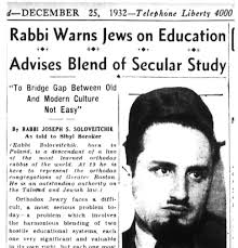 the arrival of rabbi soloveitchik in america a documentary report