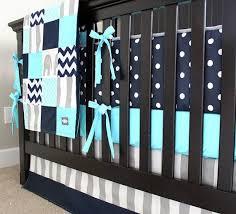 Aqua And Grey Crib Bedding Blue And Grey Crib Bedding Set Tokida For